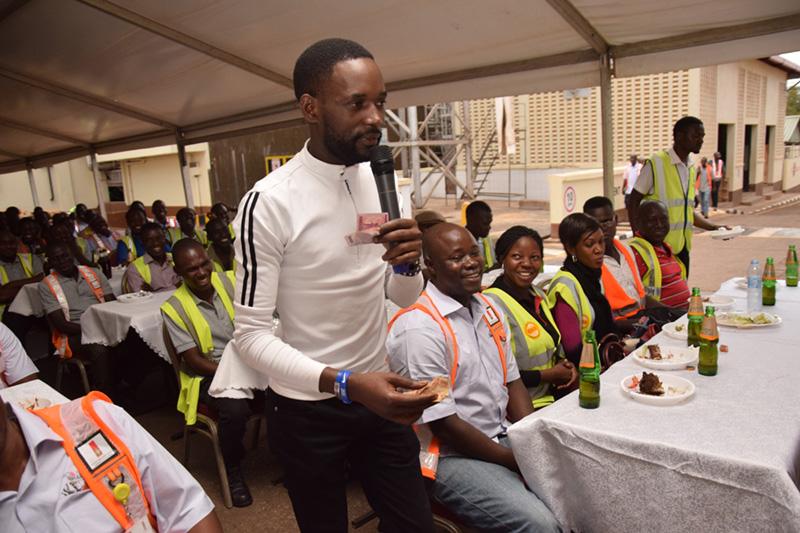 Comedian Mariachi cracks ribs at Uganda Breweries Limited