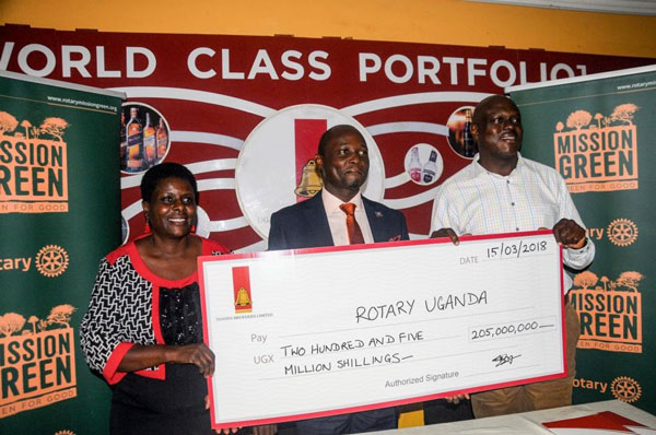 Uganda Breweries Limited Partners With Rotary Uganda
