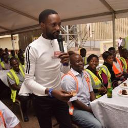 Comedian Mariachi cracks ribs at Uganda Breweries Limited